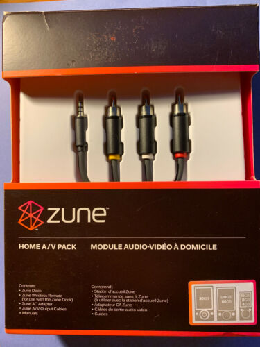 Zune Home A/V Pack - A/C Adapter, A/V Output Cables Open Box