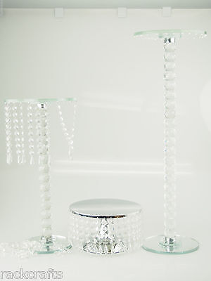 Table Centerpiece Chandeliers Stand Platform Heavy Glass Acrylic Crystal Wedding](Table Chandelier Centerpieces)