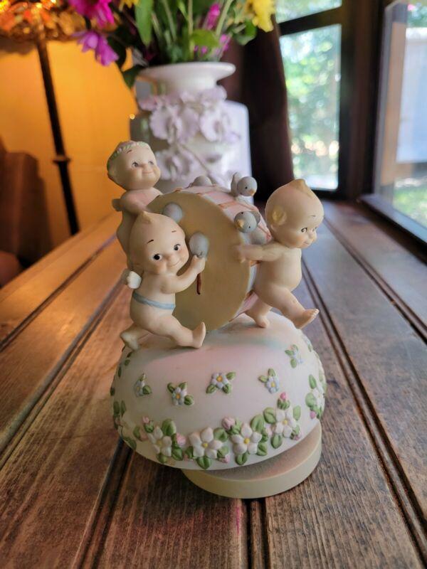VTG Original Porcelain 1985 Kewpie Figurine Jesco Parade of Love Music Box Works