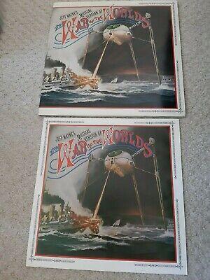 JEFF WAYNE'S - WAR OF THE WORLDS 1978 UK 2 LP- Includes booklet CBS 82672