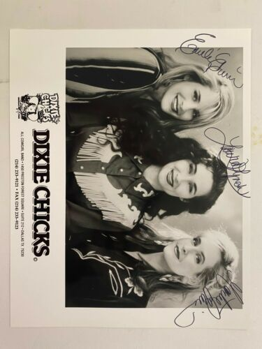 Dixie Chicks Print - Laura Lynch, Martie Maguire, and Emily Strayer Autographed