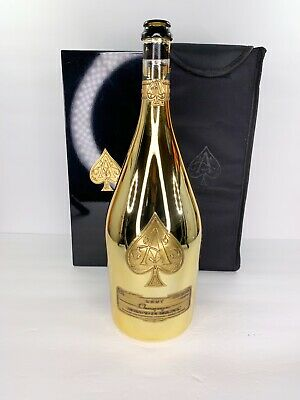 ACE OF SPADES CHAMPAGNE BRUT MAGNUM 1.5L GOLD EMPTY BOTTLE W/ THREE 750ML CASES