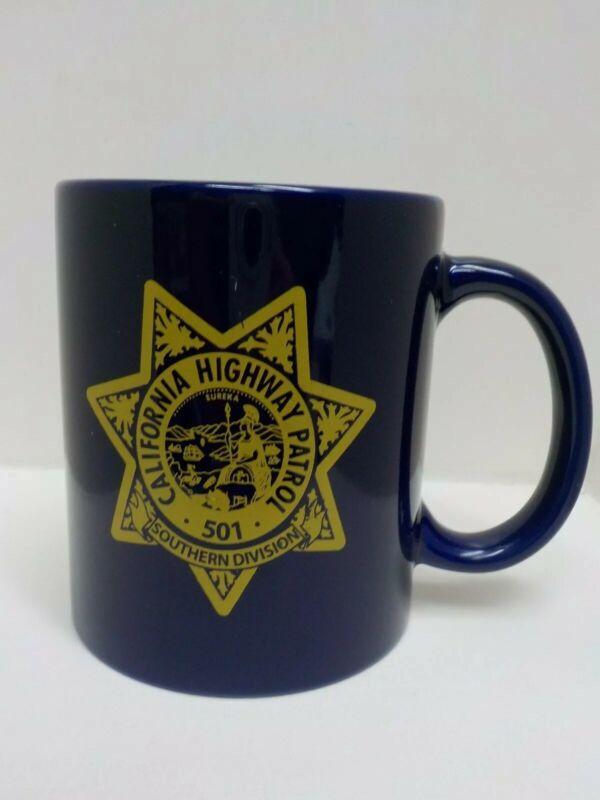 California Highway Patrol CHP 501 Southern Division Dark Blue Coffee Cup Mug