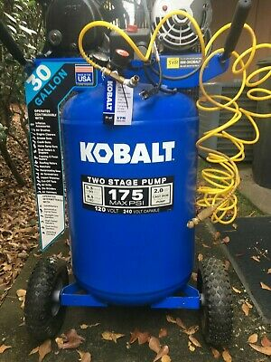 KOBALT 30-Gallon Two Stage Portable Electric Vertical Air