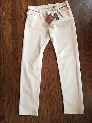 Loro Piana 'Mathias Hidalgo' White Stretch Denim Jeans Sz 46 US 10