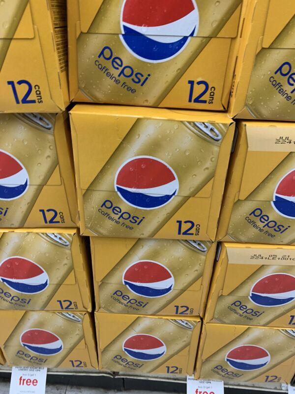 1x 12oz 12pk Caffeine FREE Pepsi cans