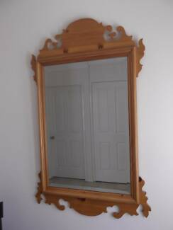 traditional pine mirror