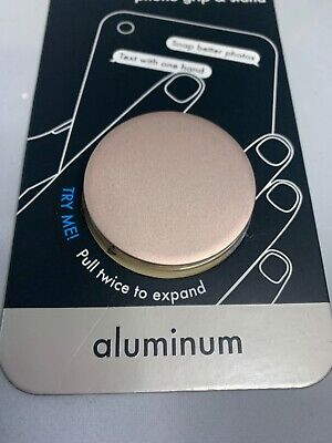 NEW Pop Sockets Phone Grip & Stand Collapsible Mount Rose Gold Aluminum 101123
