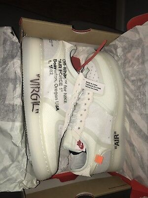 NIKE AIR FORCE 1 LOW X OFF WHITE - Signed Pair By...