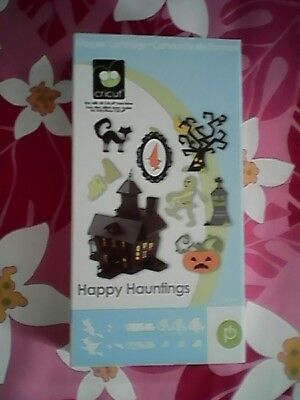CRICUT *HAPPY HAUNTINGS- HALLOWEEN CARTRIDGE  PARTY DECOR FONT- LINKED PRE-OWNED](Haunted Halloween Fonts)