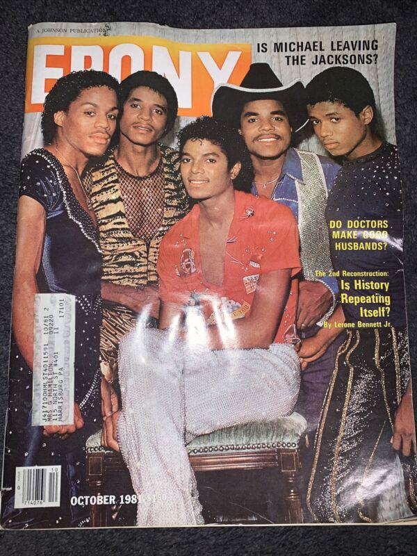 EBONY MAGAZINE Michael Jackson 5, Vintage October 1981 Leaving The Jackson Five