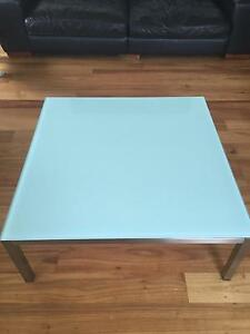 DARE frosted glass square coffee table ONO Albert Park Port Phillip Preview