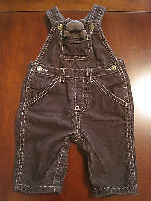 Brown Corduroy Boys Overalls - Gymboree Boys Brown Stuffed Bulldog Puppy Dog Corduroy Overalls 0-3 months EUC