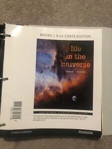 Life in the universe Nats 1880 textbook