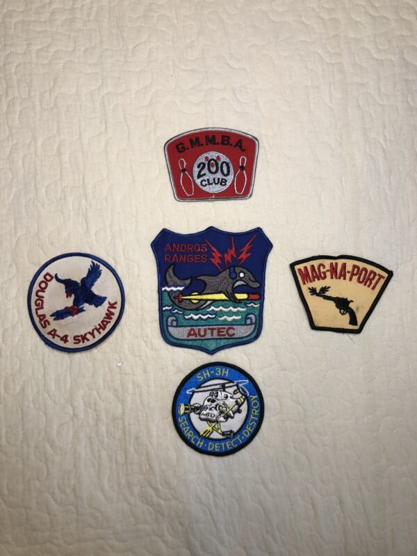 Andros Ranges, Mag-Na-Port, Douglas Skyhawk, and 2 other patches Lot