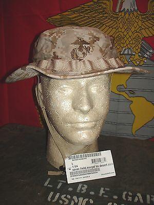 USMC MARPAT Desert Boonie Hat Sekri Industries size Large NEW