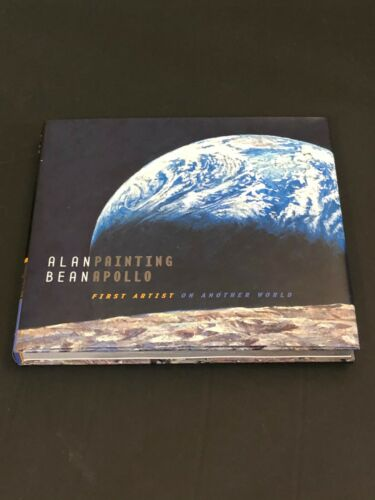 Alan Bean NASA Astronaut Moonwalker Painting Apollo Signed Autograph Book JSA