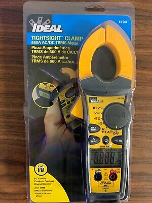 Ideal 61-765 660 Amp Tightsight True Rms Digital Clamp On Meter New.