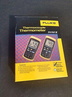 Fluke 51-2 Calibrated Single Input Thermometer 51 Ii 51-ii