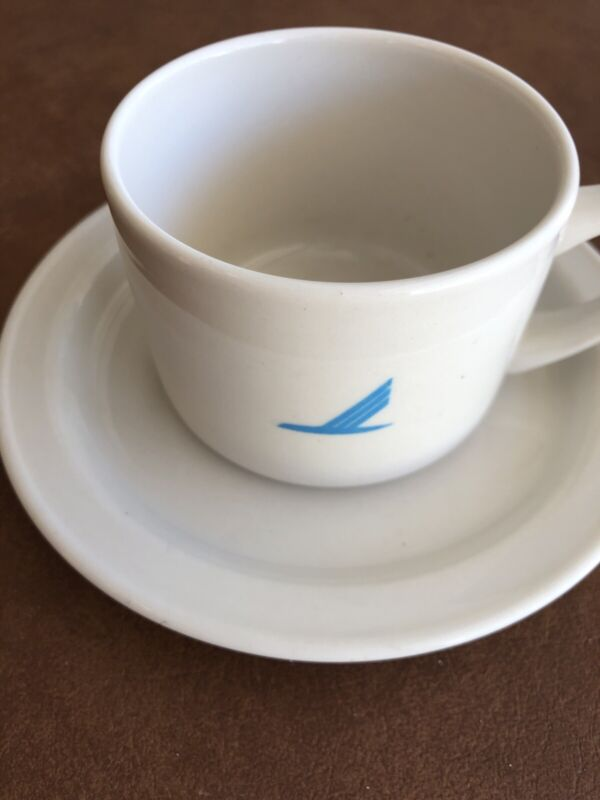 Piedmont Airlines Blue Logo Coffee Cup & Saucer