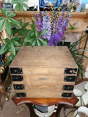 Small vintage Antique Coffer Chest