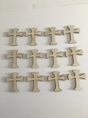 Wooden Crosses Unfinished Craft Laser Cut 3