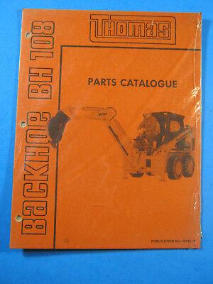 Thomas Backhoe Bh 108 Skid Steer Loader Parts Catalog Manual