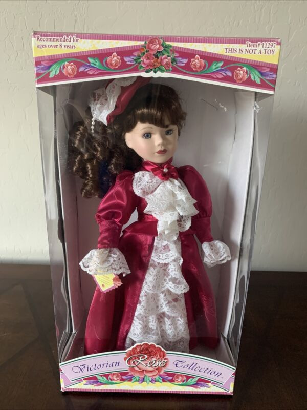 Victorian Rose Collection 1997 Limited Edition Genuine Porcelaine Doll