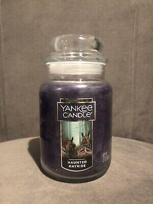 Yankee Candle HAUNTED HAYRIDE 22 oz - LARGE JAR HALLOWEEN - New