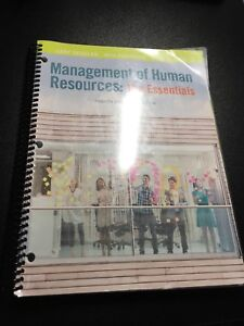 Management of Human Resources: The Essentials