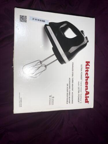 KitchenAid KHM512OB 5-Speed Ultra Power Hand Mixer, Onyx Bla
