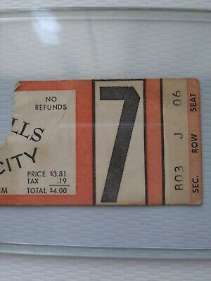 Kansas City at Buffalo Bills 1969 AFL ticket stub 11-2-1969