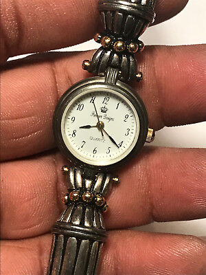 Nice Ladies Silver Tone Toggle Band Premier Designs Analog Watch
