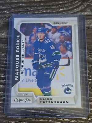 Elias Pettersson 2018-19 Upper Deck OPC Marquee Rookie Card #611 Canucks