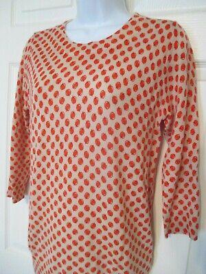 J Crew Apple Print Sweater Size S