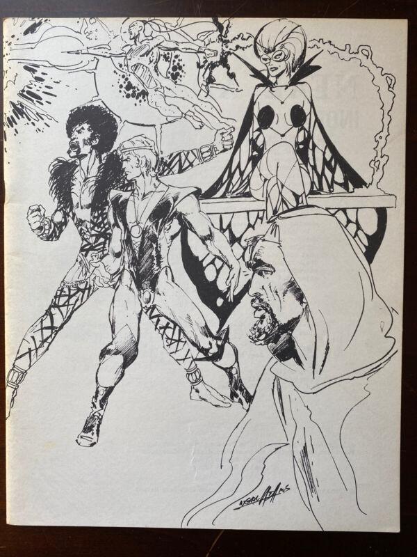 1974 Neal Adams Index Fanzine - Comic Art - Conan - Green Arrow - Batman - X-Men