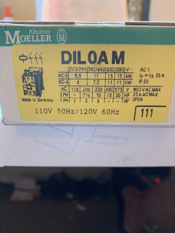 DIL0AM  110-120V Moeller Contator