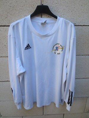 Maillot SCO ANGERS porté n°14 Championnat National 16 ans ADIDAS vintage shirt image