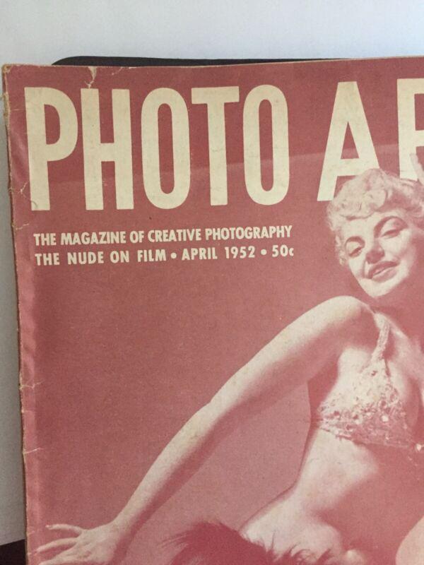 PHOTO ARTS MAGAZINE OF CREATIVE PHOTOGRAPHY NUDE OF FILM 1952