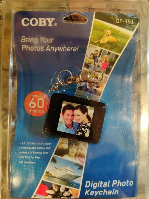 """Coby DP-151 1.5"""" Digital Picture Keychain 60 Photos"""
