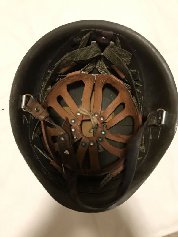 GENUINE POLISH MILITARY ARMY HELMET COMPLETE WITH ALL ORIGINAL PARTS USED IN EX