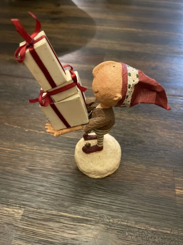 Mistletoe Manor 2004 Robin Kelso For DEMDACO Elf With Presents Christmas Decor