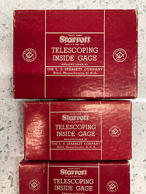 Vintage Starrett S229 3 Piece Telescoping Gage Set