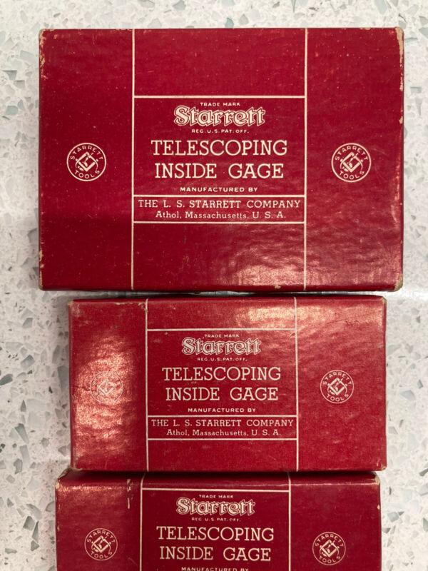 Vintage Starrett S229 3 Piece Telescoping Gage Set