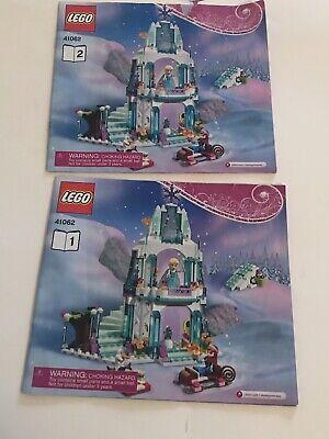 Instructions ONLY Lego Disney's FROZEN ~ Elsa's Ice Castle 41062 Books 1&2