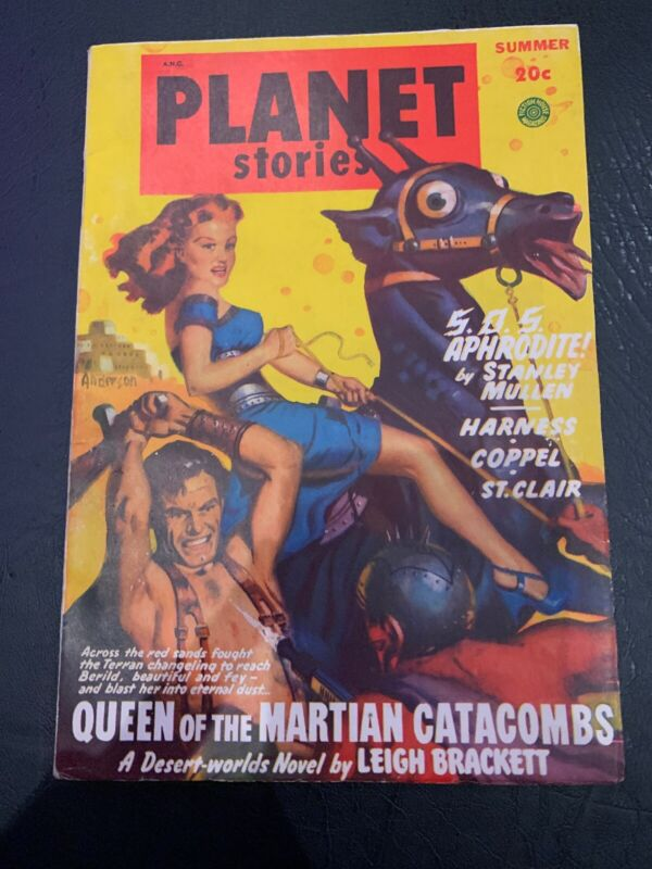 Planet Stories Summer 1949 Vintage Pulp Magazine Very Good