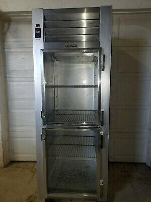 Traulsen G11000 Commercial Split Glass Door Reach In Refrigerator 115 V Tested