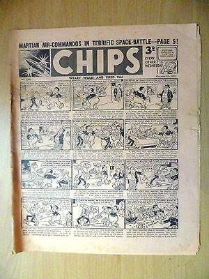 1952 Vintage Comic CHIPS- Martian Air Commandos in Terrific Space Battle (RARE)