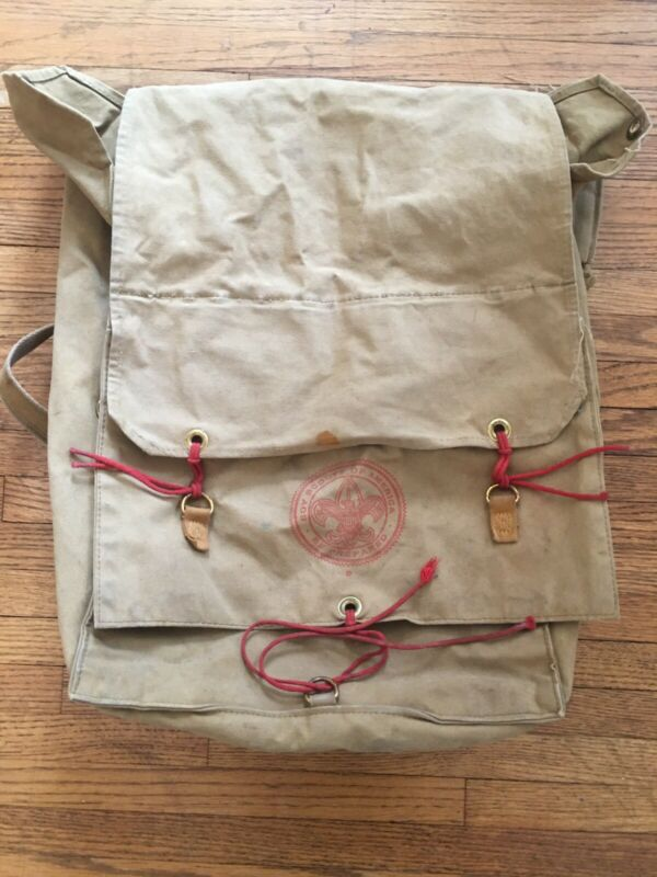 Vintage BSA Boy Scouts of America Yucca Pack No. 574 Canvas Backpack Rucksack
