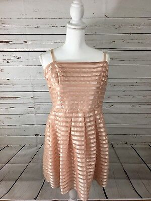 New With Tags! H&M Women's Pink Sheer Lined Ribbon Dress Size L